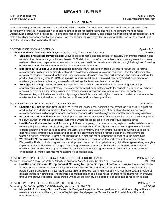 Megan LeJeune Resume HEOR 8-26-16
