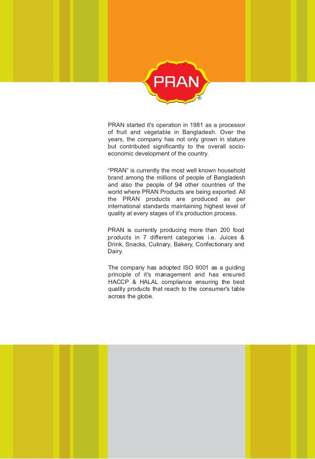 Inventory management for pran mango juice Term paper Service - July
