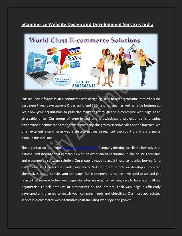 Ecommerce Website Design And Development Services Pdf