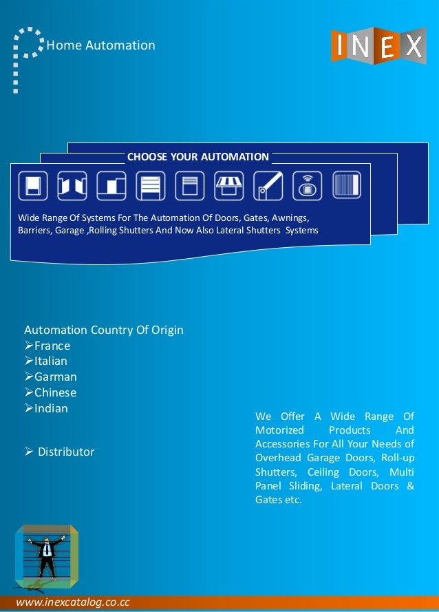 www.inexcatalog.co.cc Home Automation We Offer A Wide Range Of Motorized Products And Accessories For All Your Needs of Ov...
