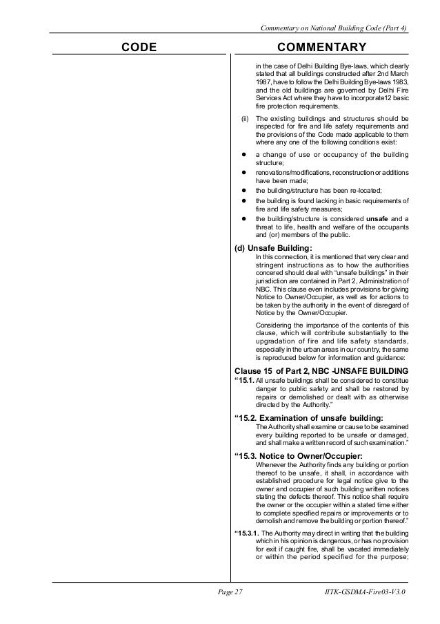 Fire safety of buildings and structures: basic provisions