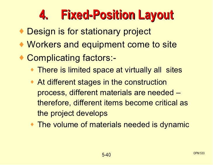 disadvantages of fixed position layout