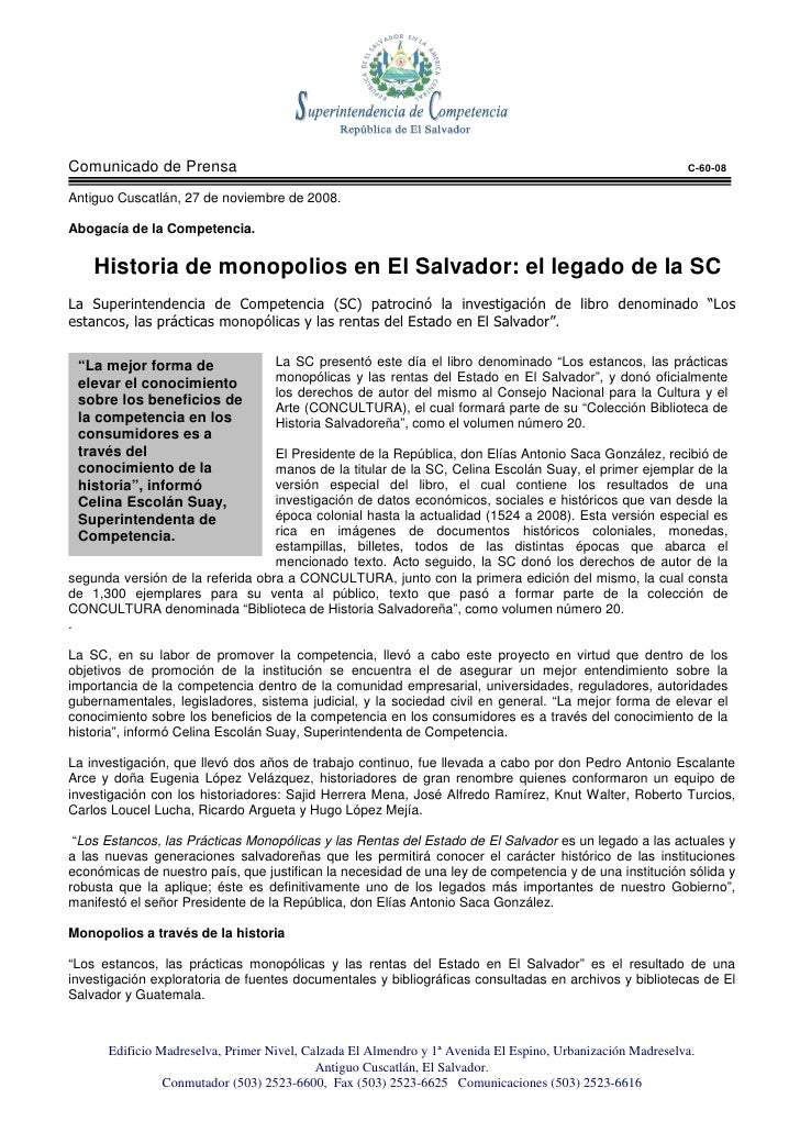 Comunicado de Prensa                                                                                       C-60-08  Antigu...