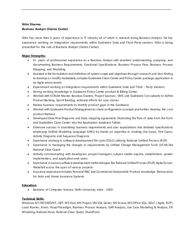 Guidewire Resume Gallery Resume Format Examples 2018