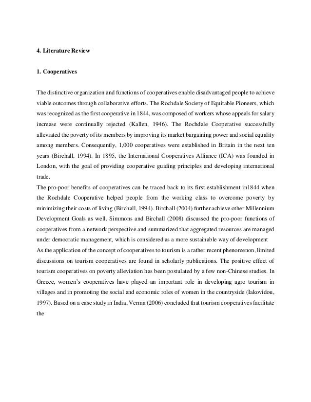 cooperatives literature review Abstract: member heterogeneity is often seen as a disadvantage of cooperatives though, a comprehensive understanding of member heterogeneity , its dimensions and impacts on member interests, organizations and their performance is still missing the following literature review is intended to summarize the existing.