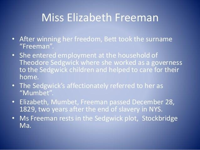 Sedgwick home Stockbridge Life as a free woman