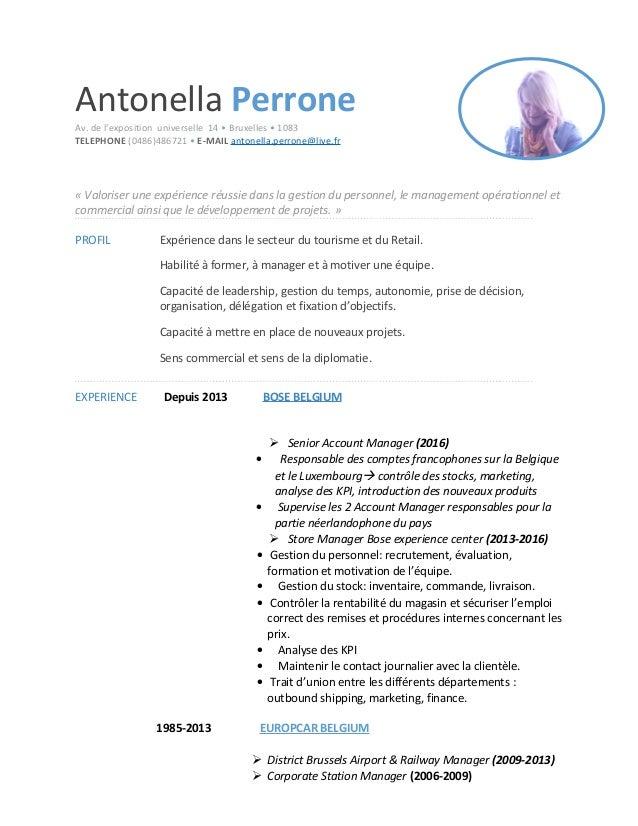 Antonella Perrone Av. de l'exposition universelle 14 • Bruxelles • 1083 TELEPHONE (0486)486721 • E-MAIL antonella.perrone@...