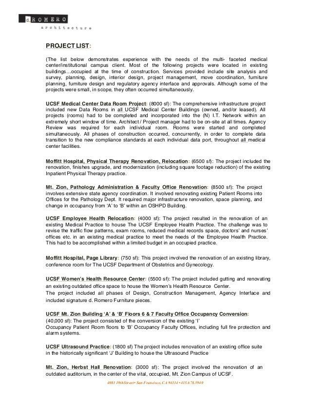 dRA Project List