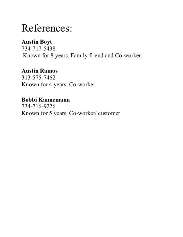 references resume