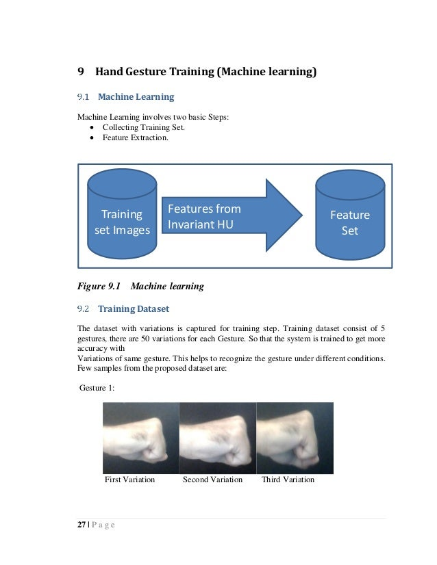 Hand gesture recognition system(FYP REPORT)