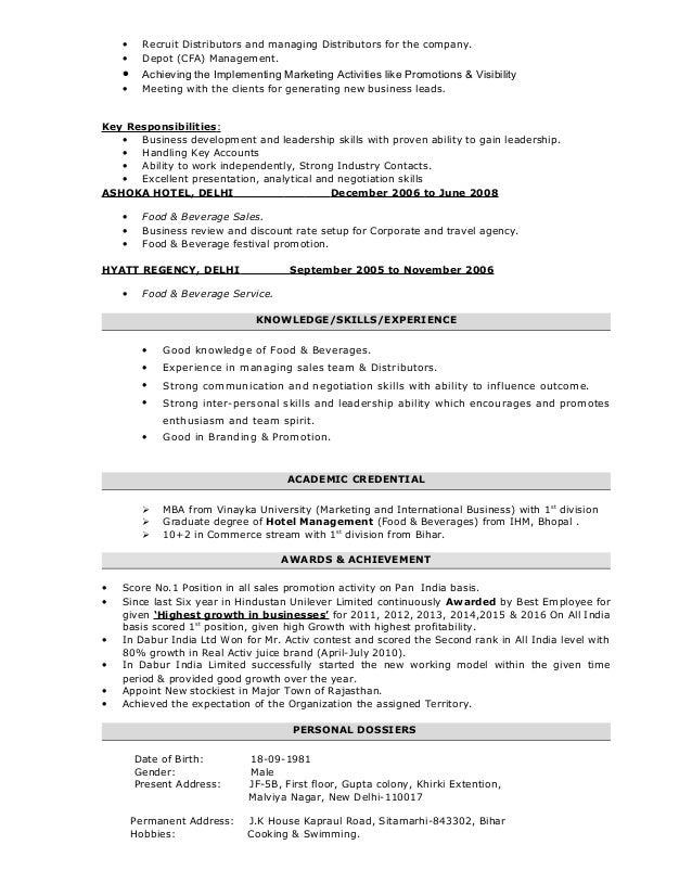 sumit kumar resume for b2b
