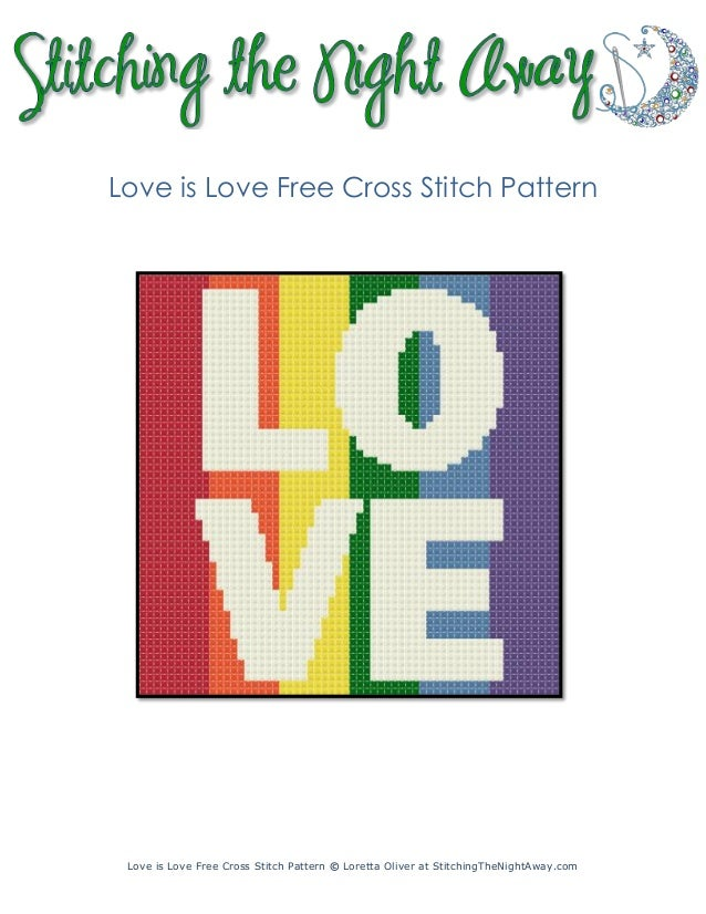 Love-is-Love-marriage-equality-for-all-free-cross-stitch-pattern