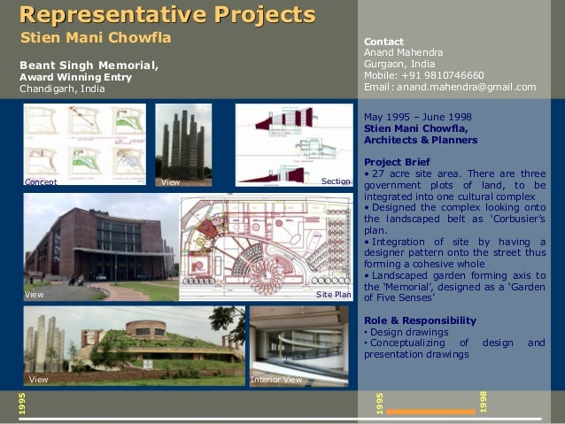 1995 1995 May 1995 – June 1998 Stien Mani Chowfla, Architects & Planners Project Brief • 27 acre site area. There are thre...