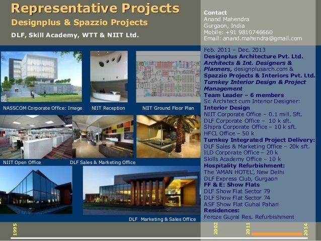 Feb. 2011 – Dec. 2013 Designplus Architecture Pvt. Ltd. Architects & Int. Designers & Planners, designplusarch.com & Spazz...