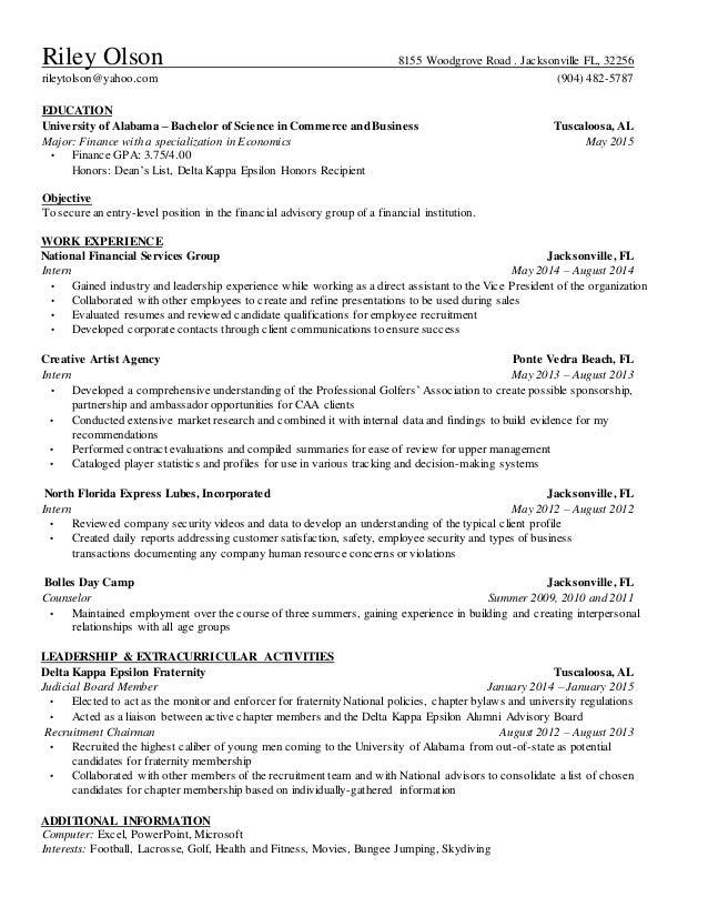 riley olson 2015 resume word