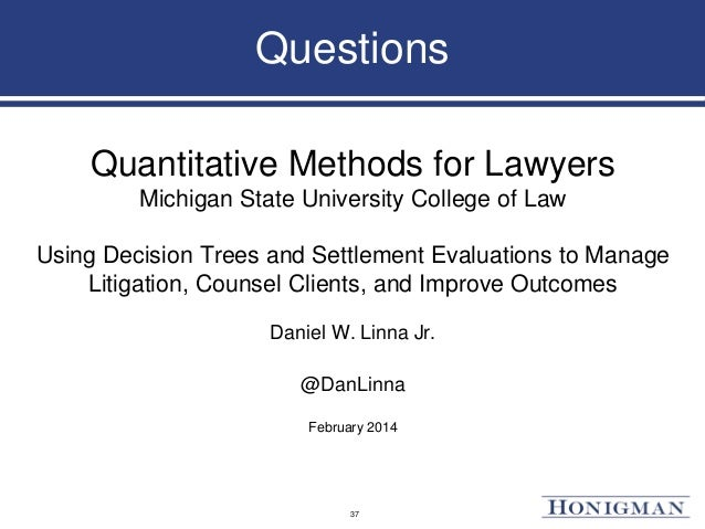 Assessing the settlement of laws related