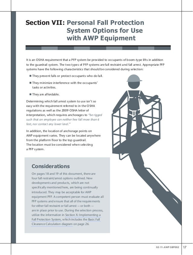 Statement Of Best Practices Fall Protection