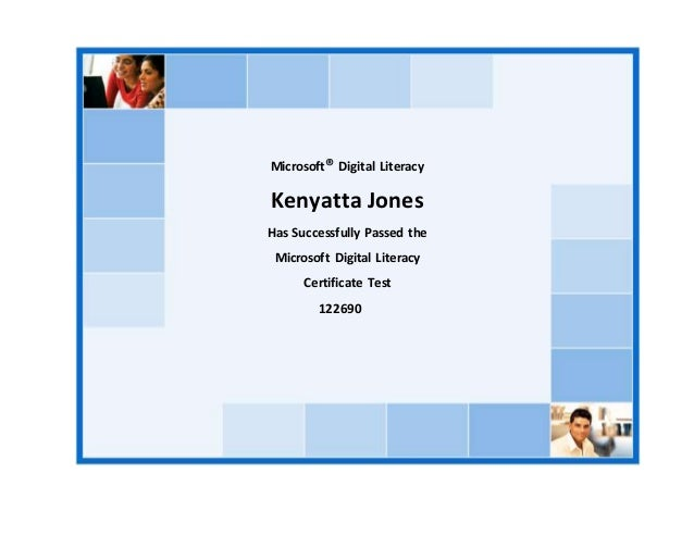 Kenyatta Jones Digital Literacy Certificate