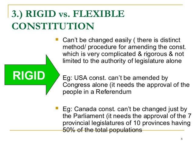 features rigid constitution