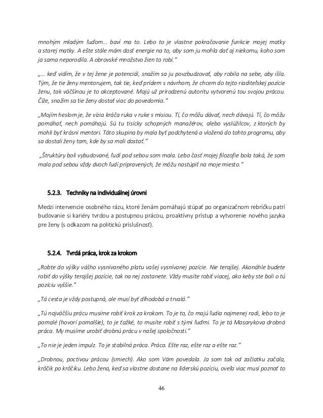 fbd6826625 Progress Report - Podpora vyrovnaného zastúpenia žien
