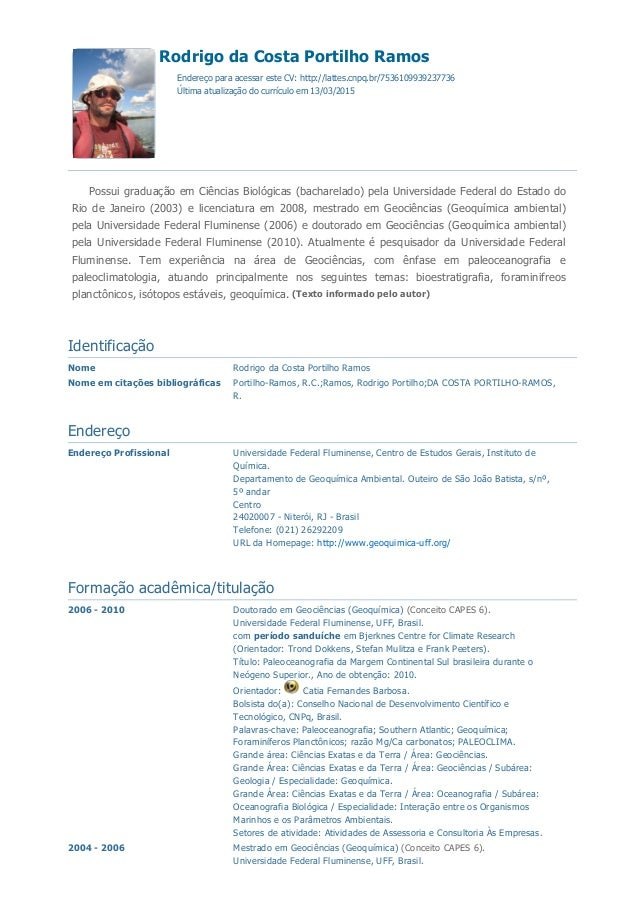 4/2/2015 Currículo do Sistema de Currículos Lattes (Rodrigo da Costa Portilho Ramos) http://buscatextual.cnpq.br/buscatext...