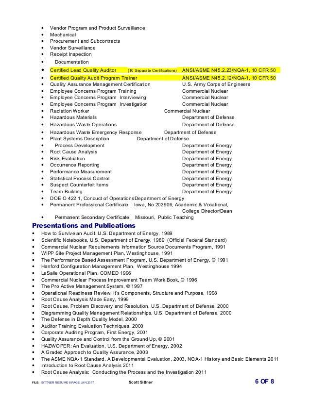 • Vendor Program and Product Surveillance • Mechanical • Procurement and Subcontracts • Vendor Surveillance • Receipt Insp...