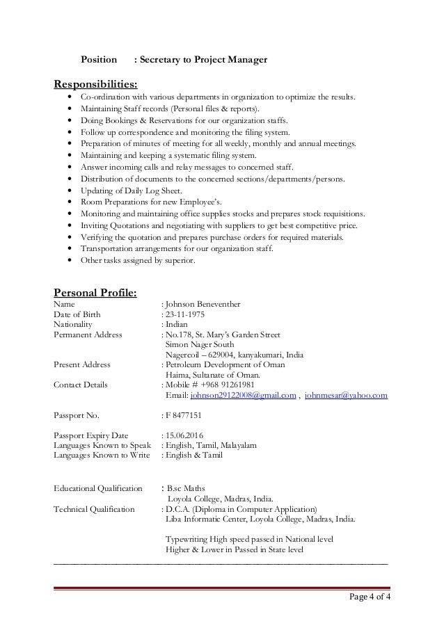 updated resume johnson