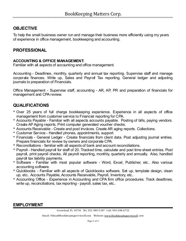 Resume help business owner