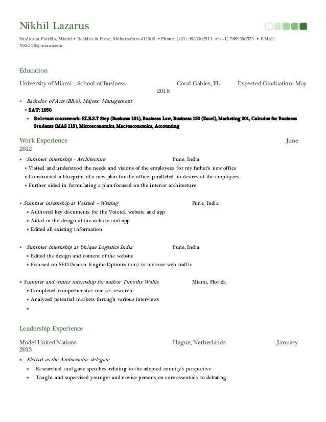 Nikhil Lazarus Studies at Florida, Miami  Resides in Pune, Maharashtra 411006  Phone: (+91) 9823302511 or (+1) 786930657...