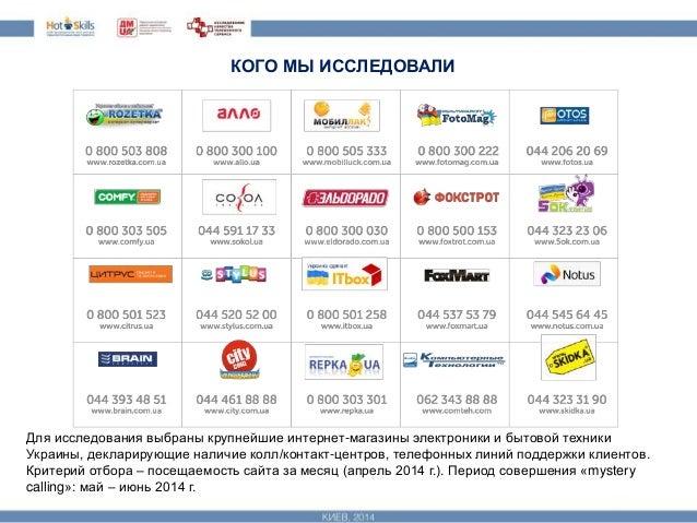 исследование качества телефонного обслуживания интернет магазинов Slide 3