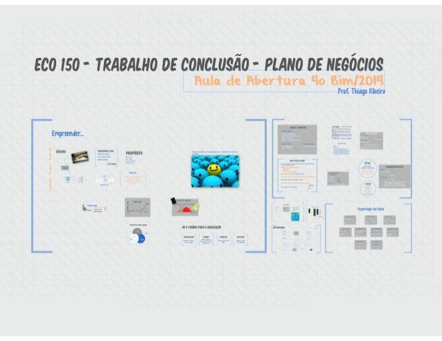 ECO 150 - Plano de Negócios - Aula de Abertura