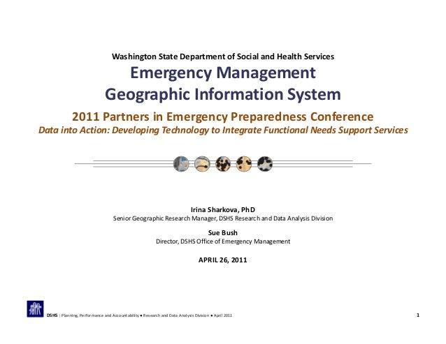 WashingtonStateDepartmentofSocialandHealthServices EmergencyManagement GeographicInformationSystem 2011Partne...