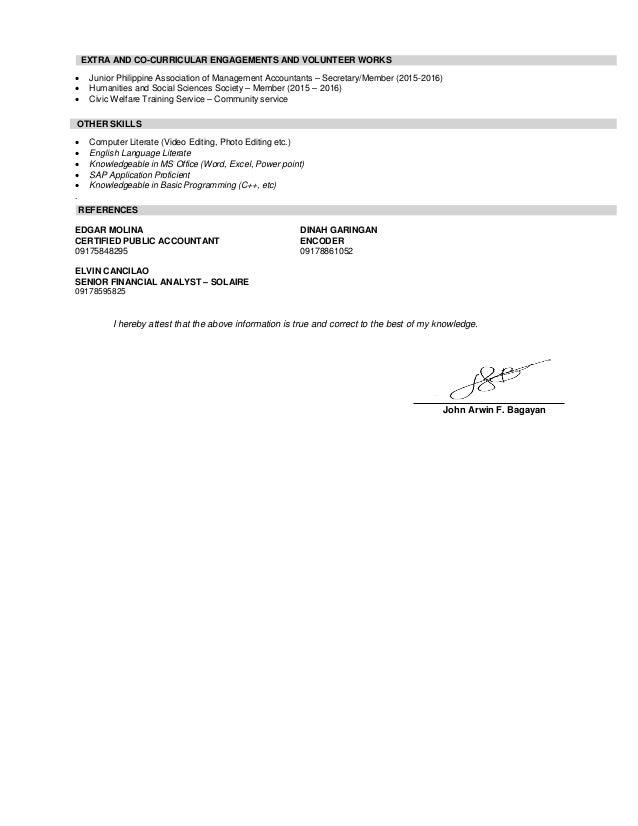 bagayan  john arwin f   resume