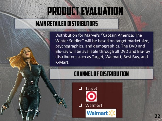 """ProductEvaluation Distribution for Marvel's """"Captain America: The Winter Soldier"""" will be based on target market size, psy..."""