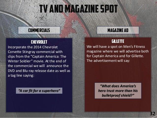 "TVandMagazineSpot Chevrolet Incorporate the 2014 Chevrolet Corvette Stingray commercial with clips from the ""Captain Ameri..."