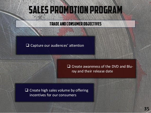 SalesPromotionProgram  Create high sales volume by offering incentives for our consumers TradeandConsumerObjectives  Cre...