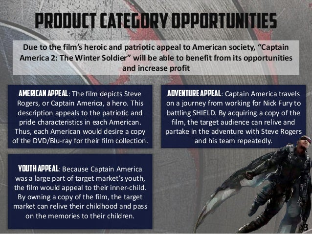"""Due to the film's heroic and patriotic appeal to American society, """"Captain America 2: The Winter Soldier"""" will be able to..."""