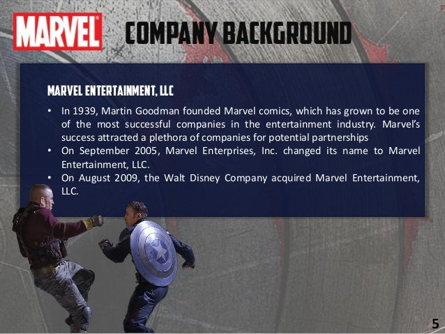 MarvelEntertainment,LLC • In 1939, Martin Goodman founded Marvel comics, which has grown to be one of the most successful ...