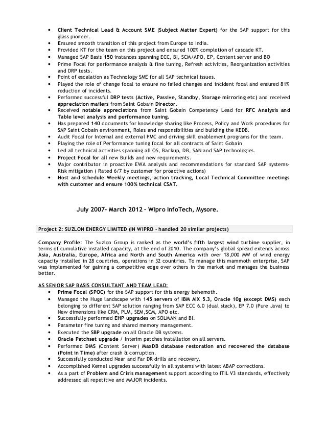 sap technical architect jswetha resume