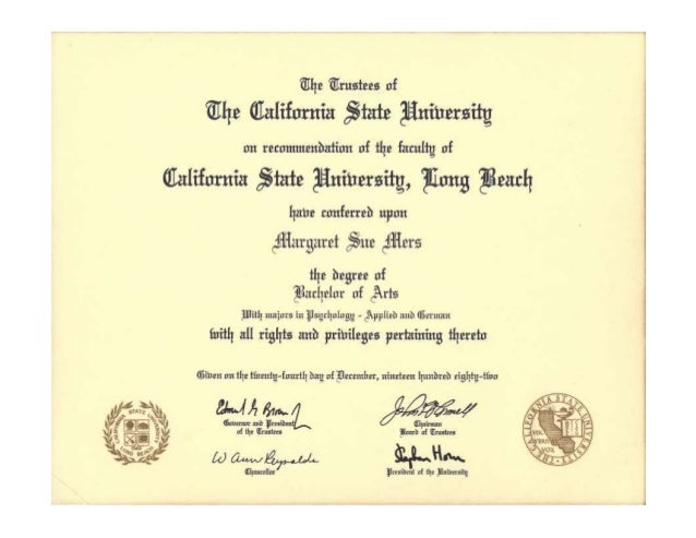 Csulb Ba Diploma
