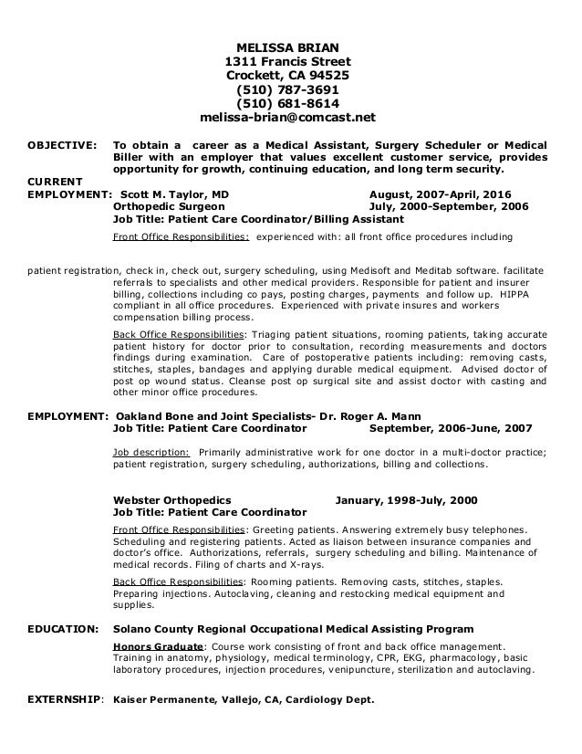 Favorite-Resume Revised