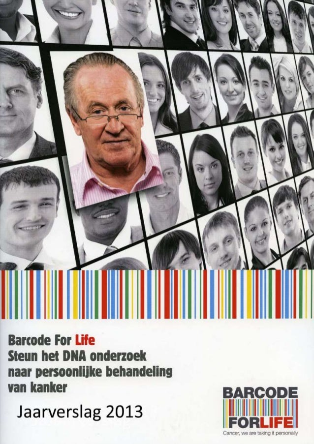 Jaarverslag Barcode for Life 2013. Pag. 1
