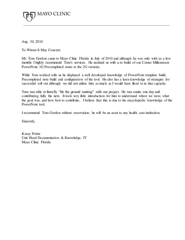 mayo clinic health letter mayo letter of recommendation 12172