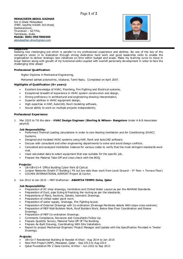 Mohaideen CV