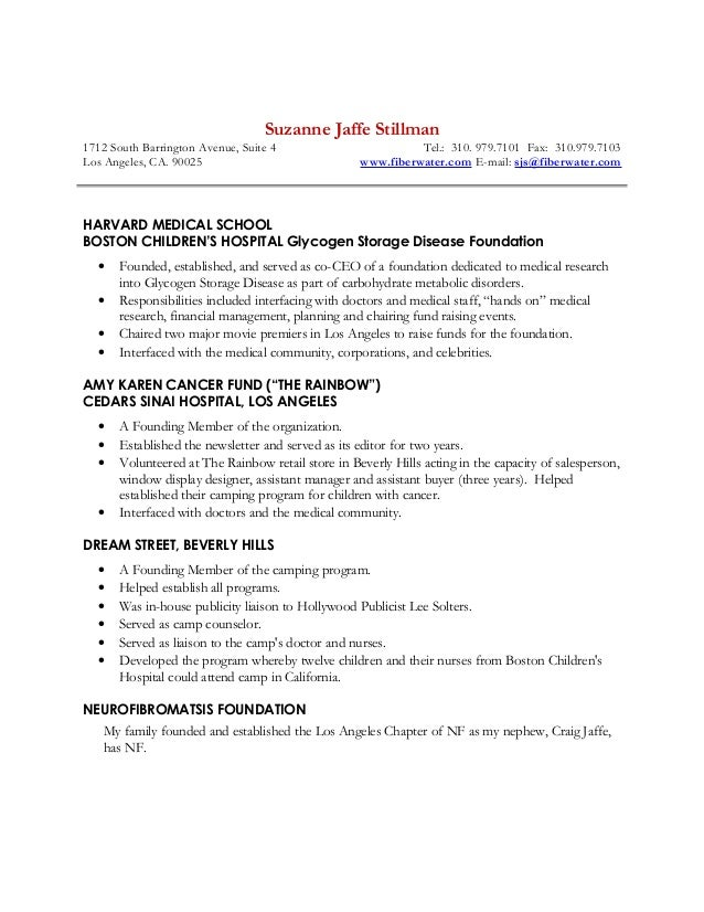 Suzanne Charity Resume 2016