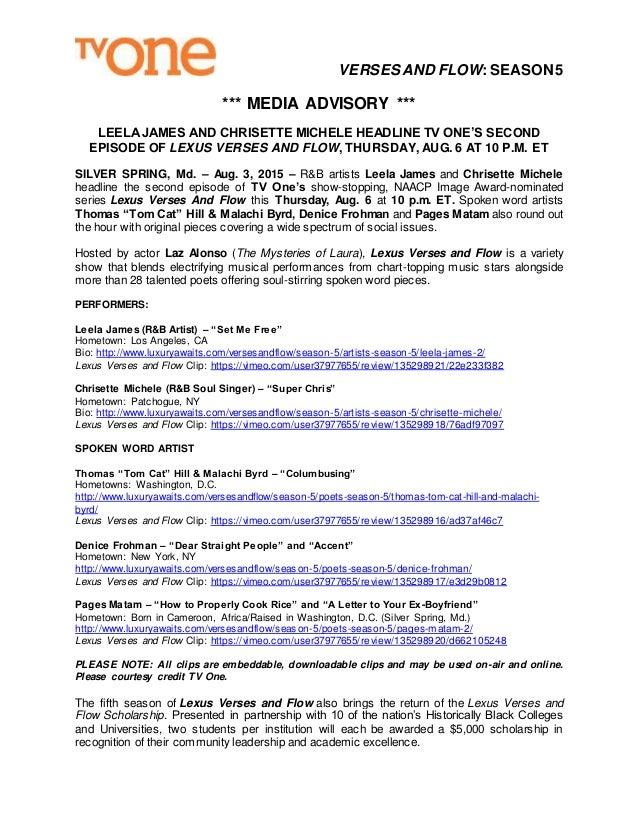 Verses & Flow S5E2 Media Alert_8 4 15