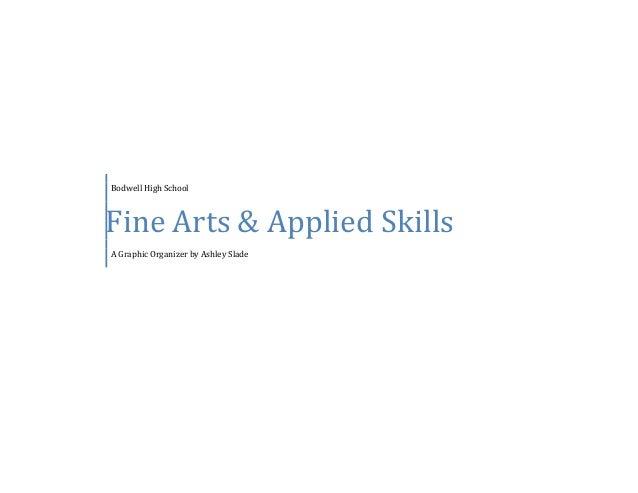 Bodwell High School Fine Arts & Applied Skills A Graphic Organizer by Ashley Slade
