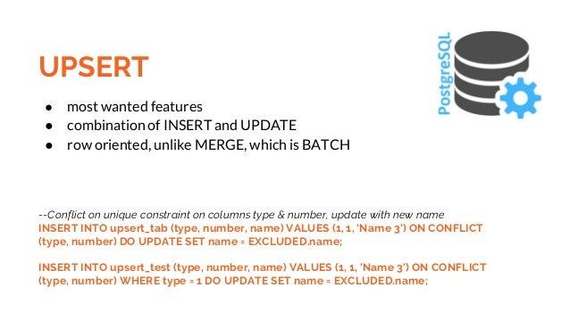 PostgreSQL 9 5 Features