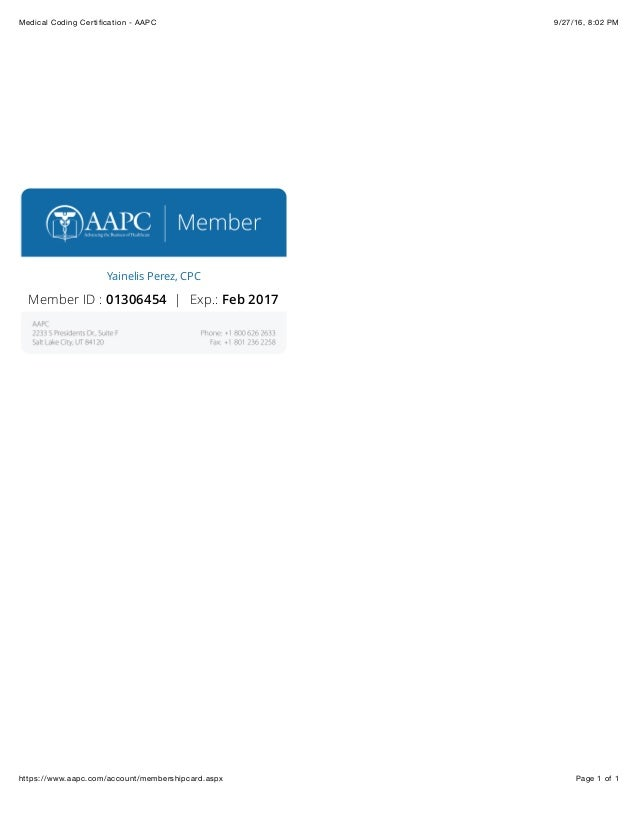 Medical Coding Certification Aapc