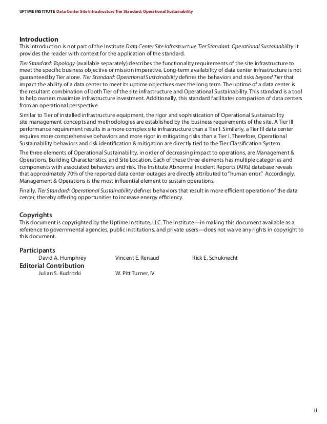 Tier Stanadard Operational-Sustainability Slide 3